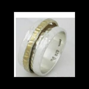 Silpada Hammered Sterling Silver 925 Spinner Ring